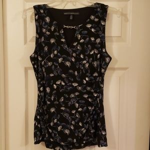 Sz S NWOT WHBM top with silver detail